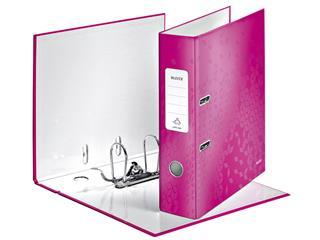 Ordner Leitz WOW 180° A4 80mm karton roze