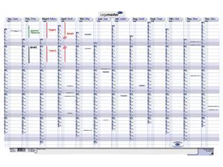 Persoonlijke planner 2022 Legamaster 60x90cm oprolbaar