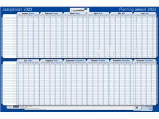 Projectplanner 2022 Legamaster 60x90cm gelamineerd