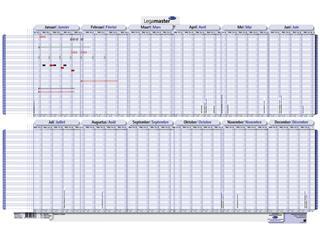 Projectplanner 2022 Legamaster 60x90cm oprolbaar