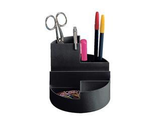 Pennenkoker MAUL roundbox 6 vakken zwart