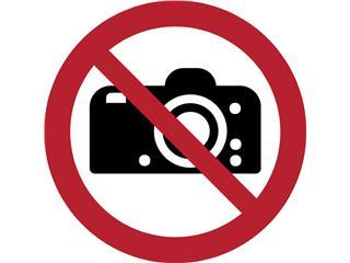 Pictogram Tarifold fotografie verboden ø200mm