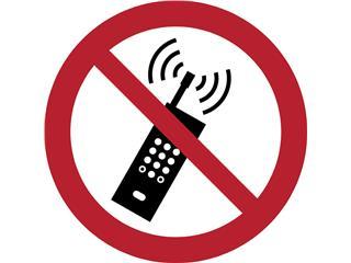 Pictogram Tarifold mobiele telefoon verboden ø200mm