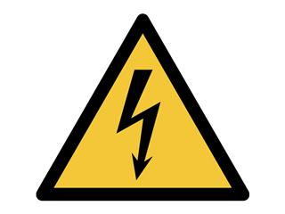 Pictogram Tarifold waarschuwing elektrische spanning 200x176mm