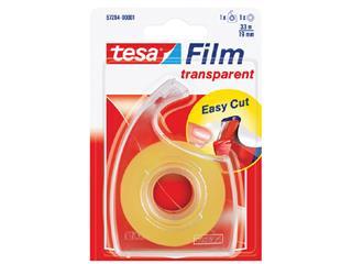 Plakband Tesa film 19mmx33m transparant op dispenser