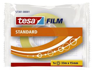 PLAKBAND TESA 57381 15MMX33M STANDAARD TR