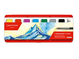Plakkaatverf Caran d'Ache blik à 8 kleuren