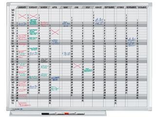 Planbord Legamaster professional jaarplanner hor 90x120cm