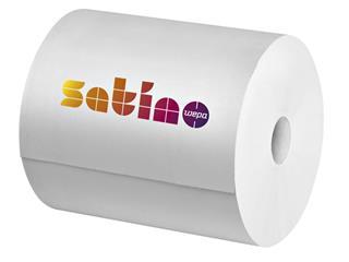 Poetsrol Satino Premium 2-laags 25cmx370m wit 2rollen