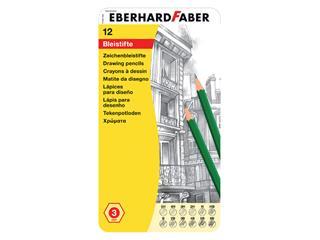 Potlood Eberhard Faber 12 hardtegraden in blik
