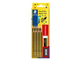 Potlood Staedtler Noris set à 12 potloden met gratis gum en slijper