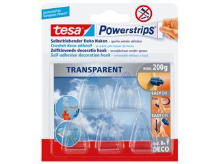 Powerstrips Tesa 58900 deco haken transparant 5 stuks