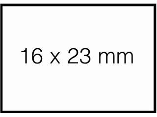 Prijsetiket 16x23mm Sato Duo 20 permanent wit