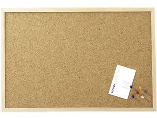 Prikbord MAUL onbewerkt houten frame 60x80cm kurk