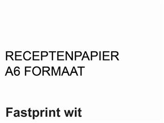 Receptpapier Fastprint A6 80gr wit 2000vel