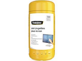 Reinigingsdoekjes Fellowes beeldscherm dispenser 100stuks