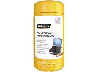 Reinigingsdoekjes Fellowes multifunctioneel dispenser 100stuks