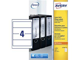 Rugetiket Avery 62x192mm zelfklevend breed wit