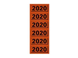 Rugetiket Elba 2020 57x25mm rood