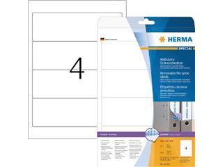 Rugetiket Herma breed 61x192mm verwijderbaar wit