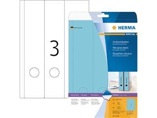 Rugetiket Herma breed/lang 61x297mm zelfklevend blauw
