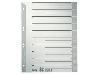 Scheidingsbladen Leitz A4 karton 230gr 6-gaats grijs