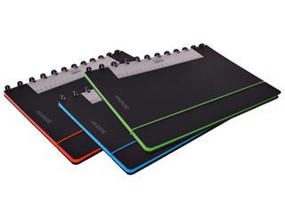 Schrift Adoc Coloredge A4 ruit 4x8mm 144blz 90gr PP zwart