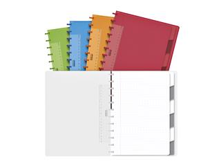 Schrift Adoc Colorlines A4 ruit 4x8mm 144blz 90gr PP assorti
