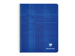 Schrift Clairefontaine A5+ 120blz ruit 5x5mm spiraal assorti