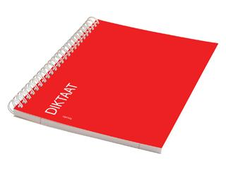 Schrift dictaat A5 160blz lijn spiraal rood