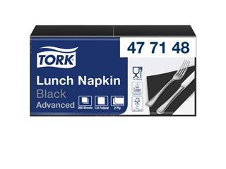 Servetten Tork 477148 2laags 33x33cm zwart 200st.