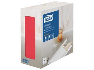 Servetten Tork 477232 LinStyle Pochette 21x9.5cm rood 60st
