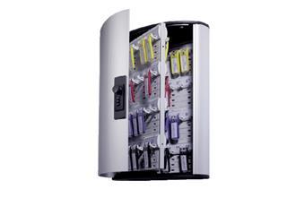 Sleutelkast Durable cijferslot 72haken 302x400x118mm aluminium