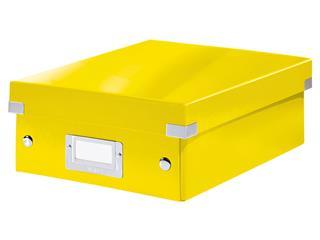 Sorteerbox Leitz WOW Click & Store 220x100x282mm geel