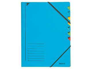 Sorteermap Leitz 3907 7-delig karton blauw