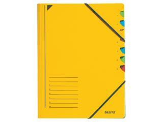 Sorteermap Leitz 3907 7-delig karton geel