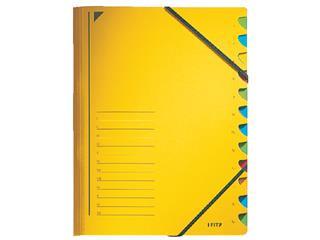 Sorteermap Leitz 3912 12-delig karton geel