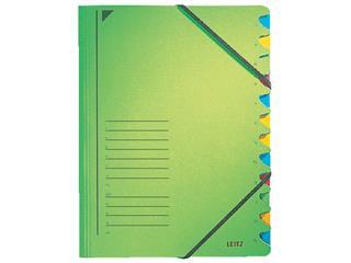 Sorteermap Leitz 3912 12-delig karton groen