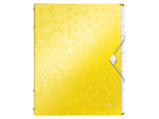 Sorteermap Leitz WOW 12-delig PP geel
