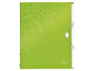 Sorteermap Leitz WOW 6-delig PP groen
