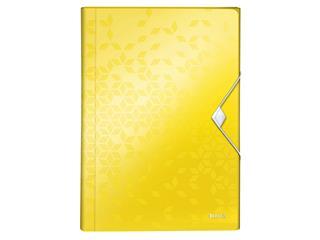 Sorteermap Leitz WOW 6-vaks PP geel