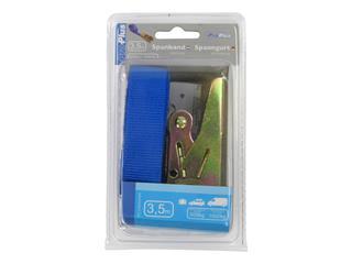 Spanband ProPlus blauw met ratel 3,5m