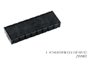 Stempelkussen Colop 6E/12 zwart