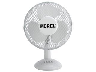 Tafelventilator Perel Ø30cm wit