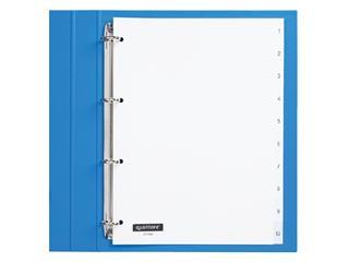 Tabbladen Quantore 4-gaats 1-10 genummerd wit PP