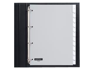 Tabbladen Quantore 4-gaats 12-delig met venster grijs PP