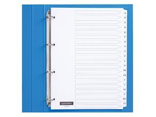 Tabbladen Quantore 4-gaats 20-delig met alfabet wit karton