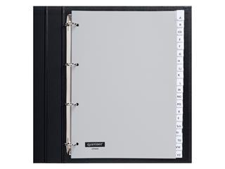 Tabbladen Quantore 4-gaats 20-delig met venster grijs PP
