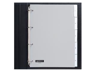 Tabbladen Quantore 4-gaats 5-delig met venster grijs PP