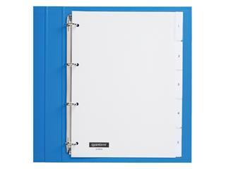 Tabbladen Quantore 4-gaats 5-delig met venster wit PP